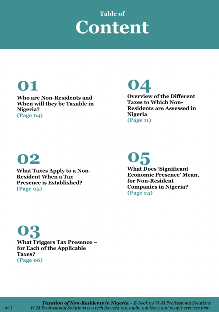 Taxation of Non-Residents in Nigeria